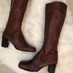 Bandolino congac leather boots.